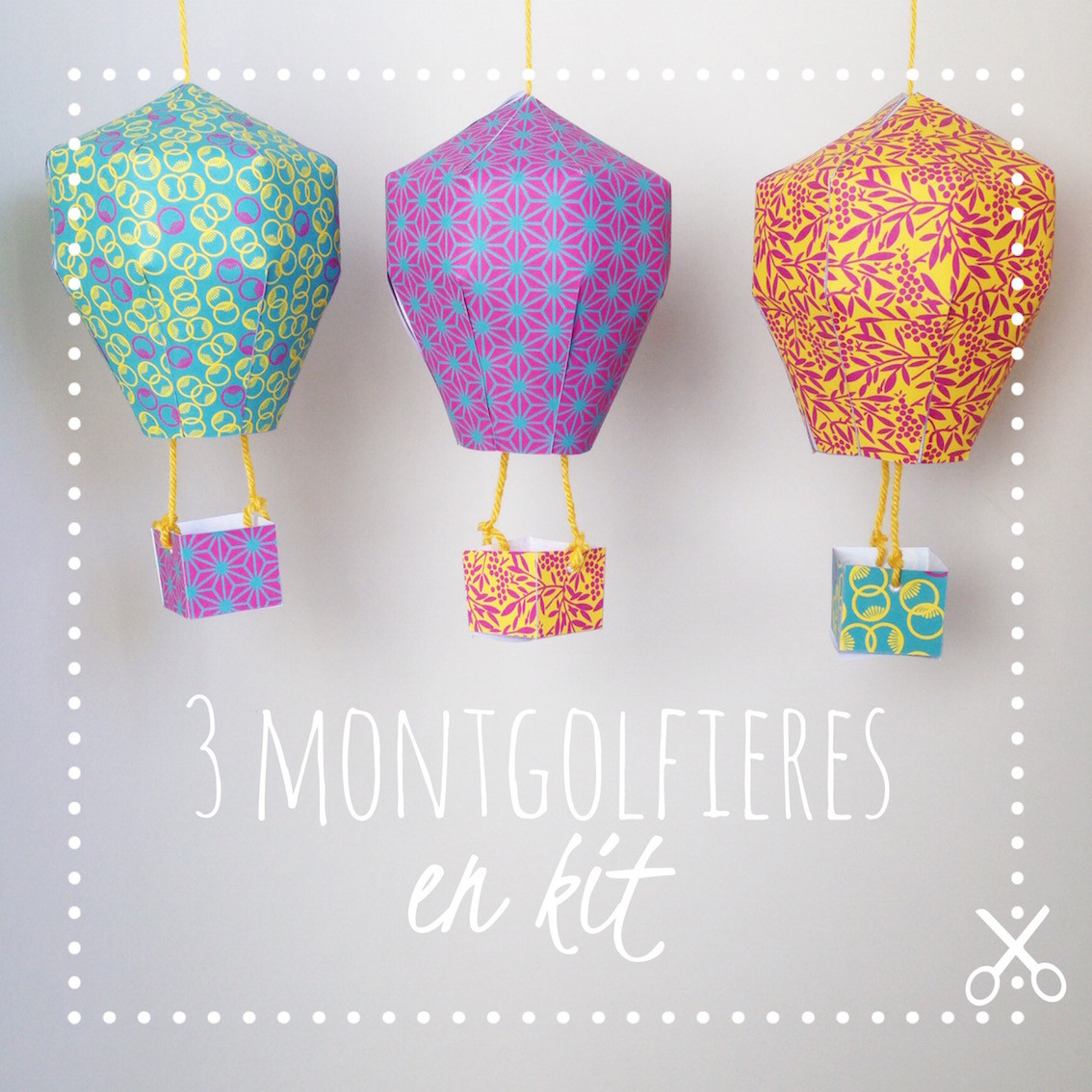 DiY kids – Mobile montgolfières en kit – Japon