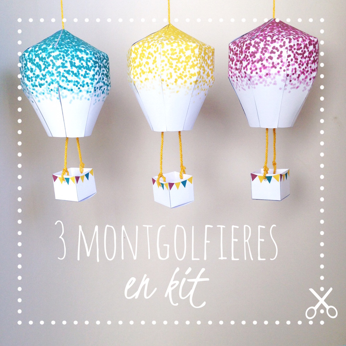DiY kids – Mobile montgolfières en kit – Confetti