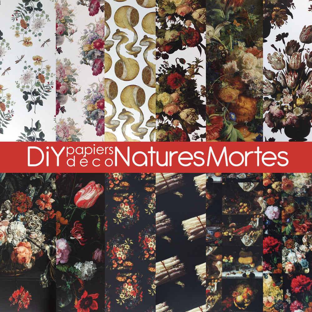 DiY déco – Papiers « nature morte »